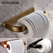 Free Shipping Durable Bathroom Accessories Golden Color Toilet Paper Rack Tissue Holder Roll Paper Holder HY-2208K стоимость