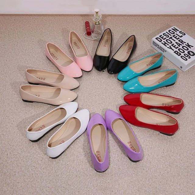Bomlight Classic Brand Ballet Shoes Woman Casual Round Toe Shoes for Women Slip on Office Lady Flats Cheaper Loafers Ballerina