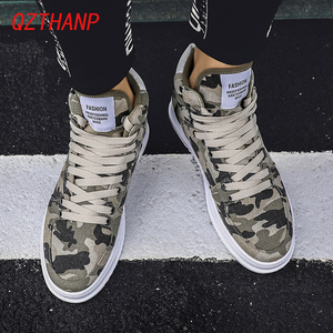 Image 2 - Fashion High Top Camo Casual Shoes Men Respirant Denim Sneakers Krasovki Chaussure Homme Tenis Masculino Adulto Male Footwear