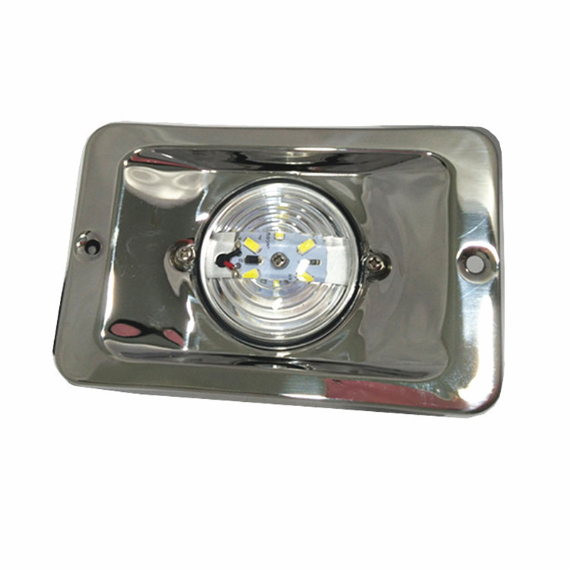 12V Marine Boat Yacht LED Navigation Light Square Stainless Steel Boat Rear Tail Lamp Waterproof-in Marine Hardware from Automobiles & Motorcycles
