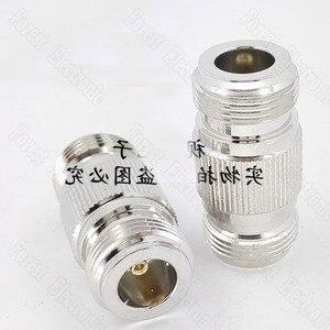 Image 3 - 10 pièces/lot N KK femelle à femelle connecteur Double passe adaptateur externe vis trou connecteur N 50KK
