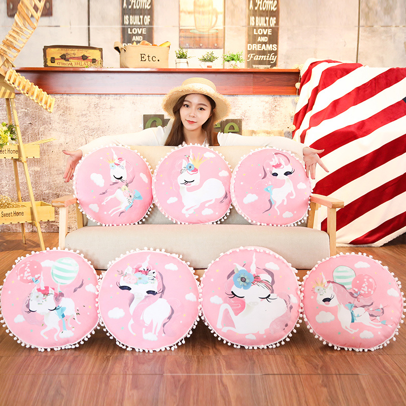 38cm Dreamlike Unicorn Plush Pillow Sofa Cushion Stuffed Horse Unicorn Pillow Doll Toys For Children Girls Birthday Gifts