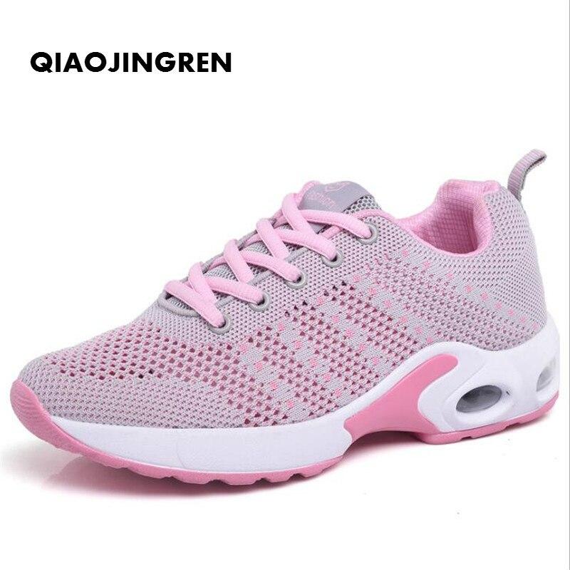 Sonnig Qiaojingren Frau Casual Schuhe Atmungsaktiv 2018 Turnschuhe Frauen Neue Ankünfte Mode Mesh Turnschuhe Schuhe Frauen Zapatos De Mujer Frauen Schuhe