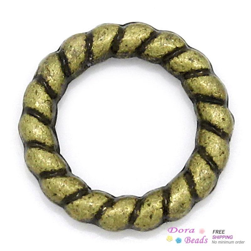 200 Jump Rings 9 mm-Antique Bronze