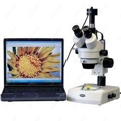 Zoom mikroskop stereo-AmScope dostarcza 3  5x-90x Zoom mikroskop stereo w podwójne światła halogenowe + kamera 1.3MP