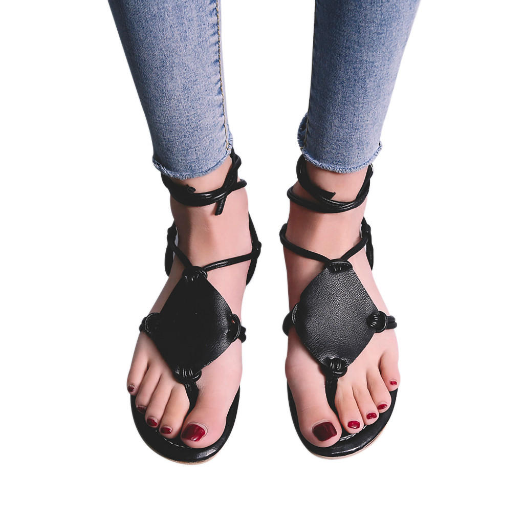 SAGACE shoes Woman Sandals Summer Solid Color Open Toe Beach Breathable Lace-Up Sandals Rome Shoes Lace Hot sell summer SandalsSAGACE shoes Woman Sandals Summer Solid Color Open Toe Beach Breathable Lace-Up Sandals Rome Shoes Lace Hot sell summer Sandals