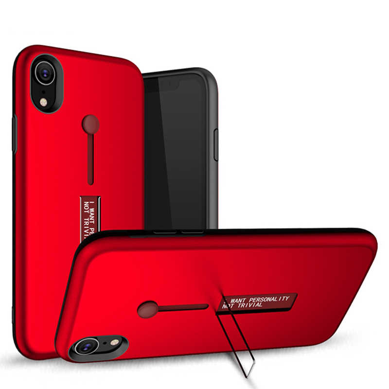 finest selection 4ff91 f7019 Fashion Kickstand Case For iPhone XS Max Case Finger Loop Strap Cover For  iPhone XR XS X Armor Shockproof Holder Back Phone Case