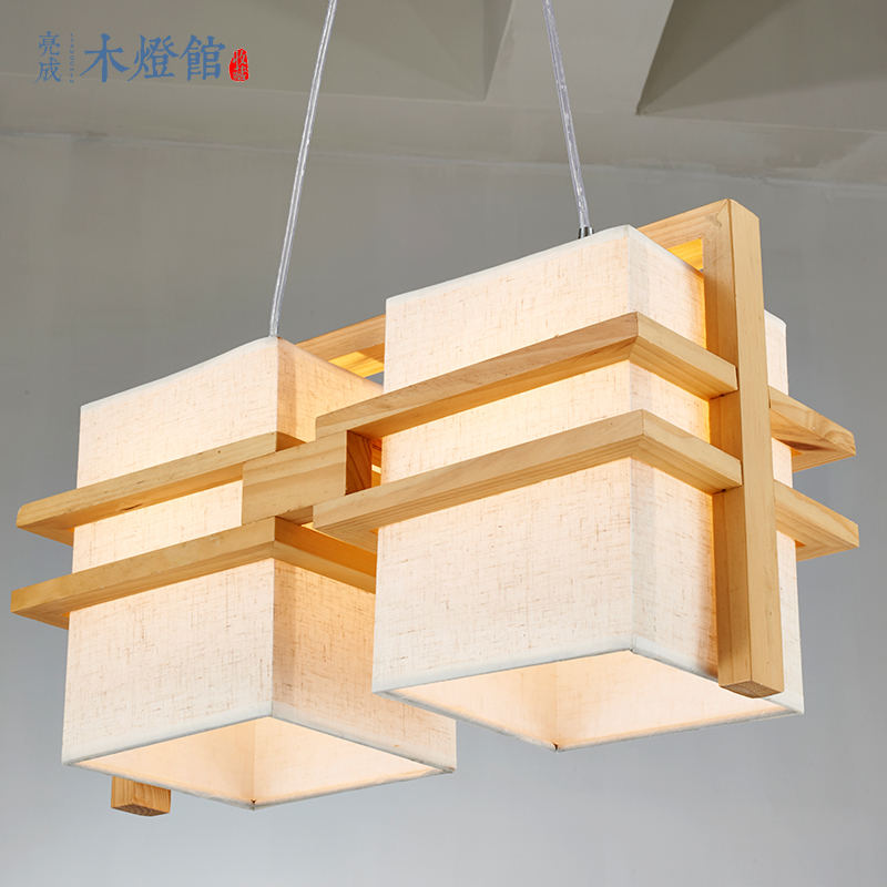 A1 Solid wood frame features creative original wooden chandelier NEW Nordic wind study the living room kitchen bedroom lamps mother garden high quality wood toy wind story green tea wooden kitchen toys set