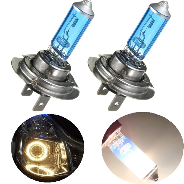 1Pcs Hot sale H7 55W Super Bright White Car Auto Light Source Halogen Headlight Fog Lamp Parking Bulb DC12V