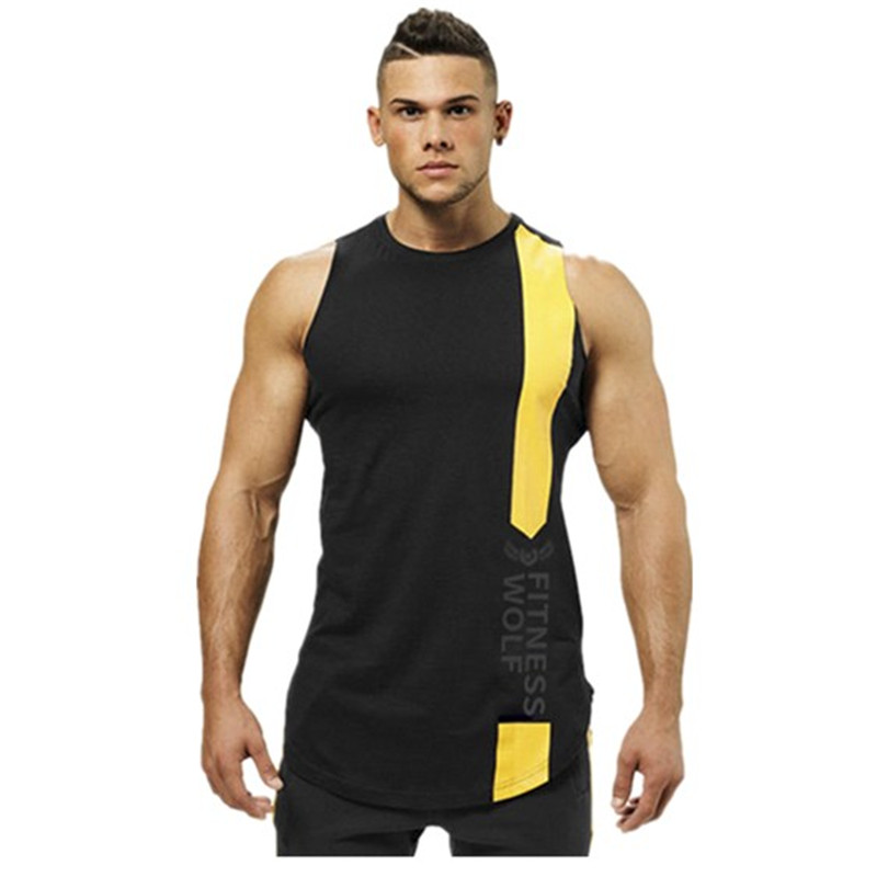 Men Tank Top Summer 2019 New Fashion Casual Men Gyms Sports Sweat absorption Quick dry O Neck sleeveless Black fitness Vest Mens