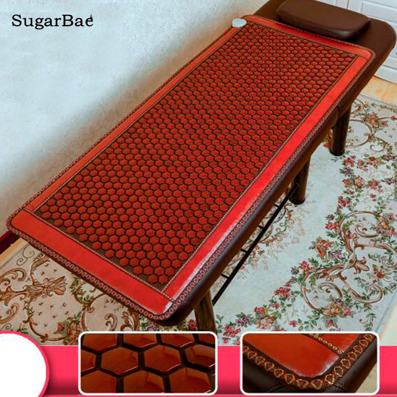 RELAX Healthcare Jade Stone Mattress Infrared Heating Germanium Tourmaline Maifan Korea Thermal Therapy Mat pop relax tourmaline health products prostate massager for men pain relief 3 balls germanium stone far infrared therapy heater