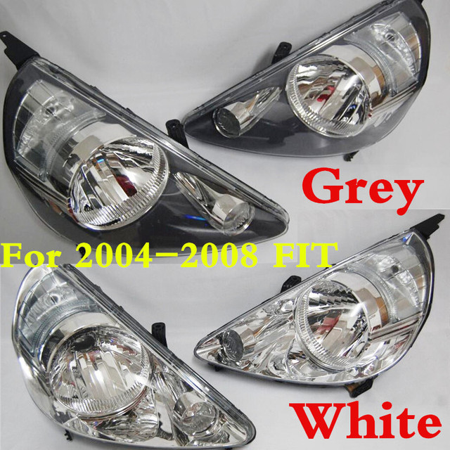CAPQX 2PCS Grey & White Color Replacement Front Headlight