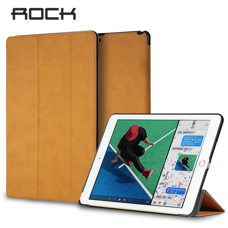 ROCK Leather Case For iPad Pro 10.5 Magnetic Flip Case For 2017 iPad Pro Auto Sleep Flip Stand Full Protective Slim Smart Cover premium pu leather case for ipad pro 9 7 2016 360 full protection smart stand auto sleep