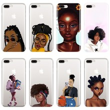 Black Girl Magic Melanine Beauty Telefoon Case Silicone Voor iPhone 6 S 6 S 7 8 X XR XS Max soft Cover Voor iPhone 8 7 6 S 6 S Plus(China)