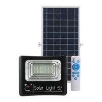 60W IP67 Solar Light Outdoor Garden Street Waterproof Lamp Lighting Two Working Mode With Remote Control lighting sensor Light