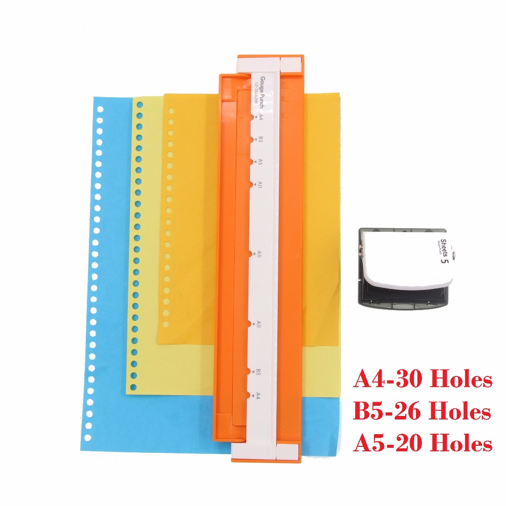 30-hole Puncher A4, B5 (26 holes),  A5 (20 holes) Paper Punch Hole Punch Handmade Loose-leaf Paper Punches bande réfléchissante scooter orange pour fourche