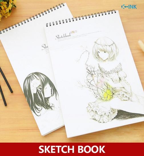 Ragazze Carine A4 Sketchbook Kawaii Ragazza A4 In Bianco Notebook
