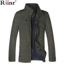 Riinr 2017 New Arrival Men's Jackets Fashion Casual Spring Autumn Jacket Male Cotton Stand Collar Coat Free shipping