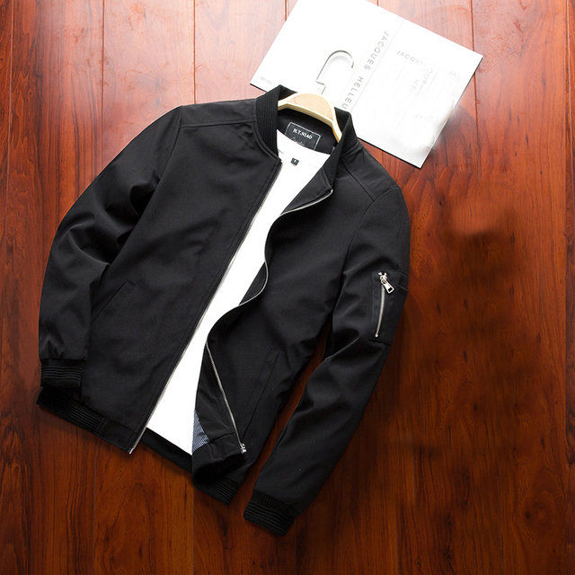 NaranjaSabor Spring New Men's Bomber Zipper Jacket Male Casual Streetwear Hip Hop Slim Fit Pilot Coat Men Clothing Plus Size 6XL 3