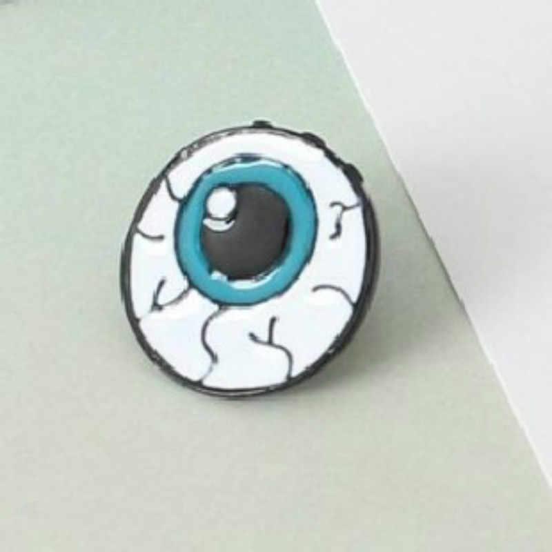 1 PC Zinc Alloy Enamel Gigi Mata Otak Jantung Bros Pins Organ Tubuh manusia Untuk Womens Perhiasan Jarum Bros Kerah Pin kerah