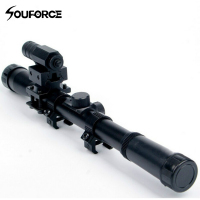 4*20 Air Gun Optics Scope mit Red Laser Sight Combo 11 mm Halterung für 22 Kaliber Airsoft Guns-in Zielfernrohre aus Sport und Unterhaltung bei