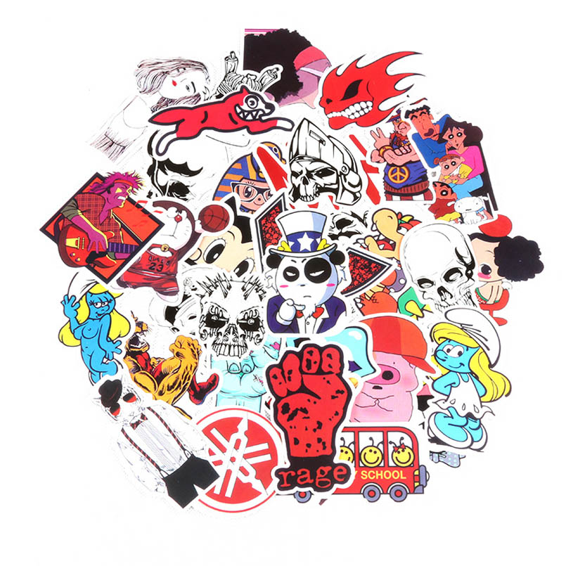 100pcs-pack-cartoon-stickers-anime-toys-car-styling-room-wall-stickers-anime-laptop-for-kids-diy-gift