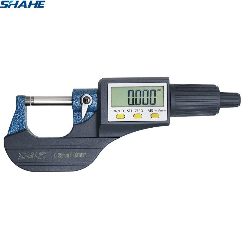 0.001 milímetros micrômetro eletrônico fora 0-25mm Extra Grande com Tela de LCD digital Paquímetro bitola micrômetro eletrônico Digital