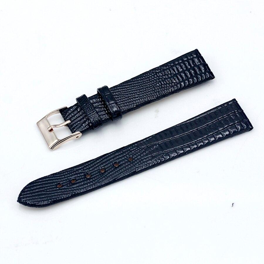Shsby Lizard Women's Watchbands Leather Watch Strap Stainless Steel Buckle Belt Buckle, 18mm