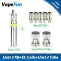 Original Eleaf iJust 2 Vaping Kit 2600mAh Battery 5.5ml E Cigarette ijust 2 kit w/ 5pcs Eleaf EC Coil Head 2pcs iJust 2 Tube
