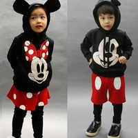 Enfants Dessin Animé de Mickey pantalon Bébé Garçons Filles Jupe Costume vêtements pour enfants Infantil survêtements à capuche Enfant Top Fille Costume