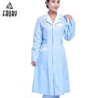 2018 New Wholesale Women Nurse Uniform Summer Hospital Medical Beauty Salon Scrub Set Surgical Scrubs Uniforms Female Long Coat
