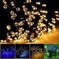 12 M 100LED Solar Jardín Luces de la decoración de 8 Modos de Luz de la Secuencia Solar luz de Navidad Guirnalda de Navidad de La Boda Al Aire Libre Para El Hogar A Prueba de agua
