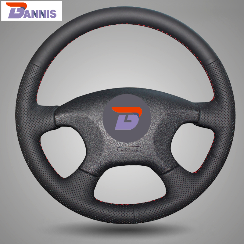 BANNIS Black Artificial Leather DIY Hand stitched Steering Wheel Cover for Citroen Elysee c elysee Citroen