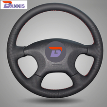 BANNIS Black Artificial Leather DIY Hand-stitched Steering Wheel Cover for Citroen Elysee c-elysee Citroen Xsara Picasso