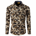 2016 New Autumn Fashion AFS JEEP Men Clothes Slim Fit Men Long Sleeve Shirt Men Camouflage Casual Shirt Plus Size 4XL
