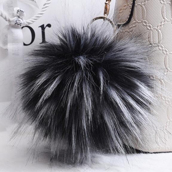 00af68c203da 16 см меховой брелок для девочек модные мягкие Мода накладные из меха енота  мяч круглый брелок для сумки помпоны из меха Для женщин брелок купить на ...