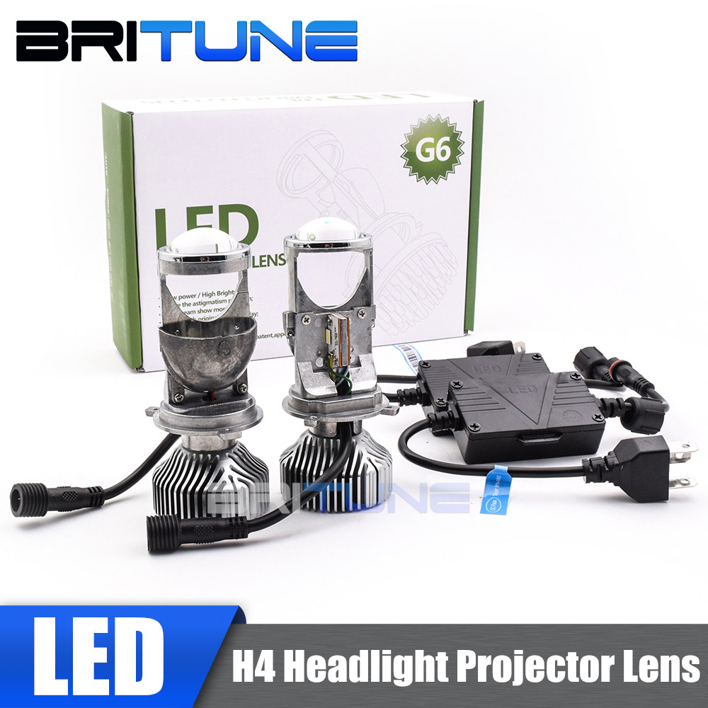 NEW H4 9003 Mini Bi-LED Projector 1.5 inch LED Headlight Lens Headlamp Retrofit