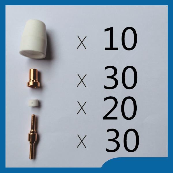 SALE WELL Direct selling Quality assurance Fit Cut40 50D CT312 Fit PT31 LG40 Kit tig Welding Accessories KIT Plasma Nozzles  цены