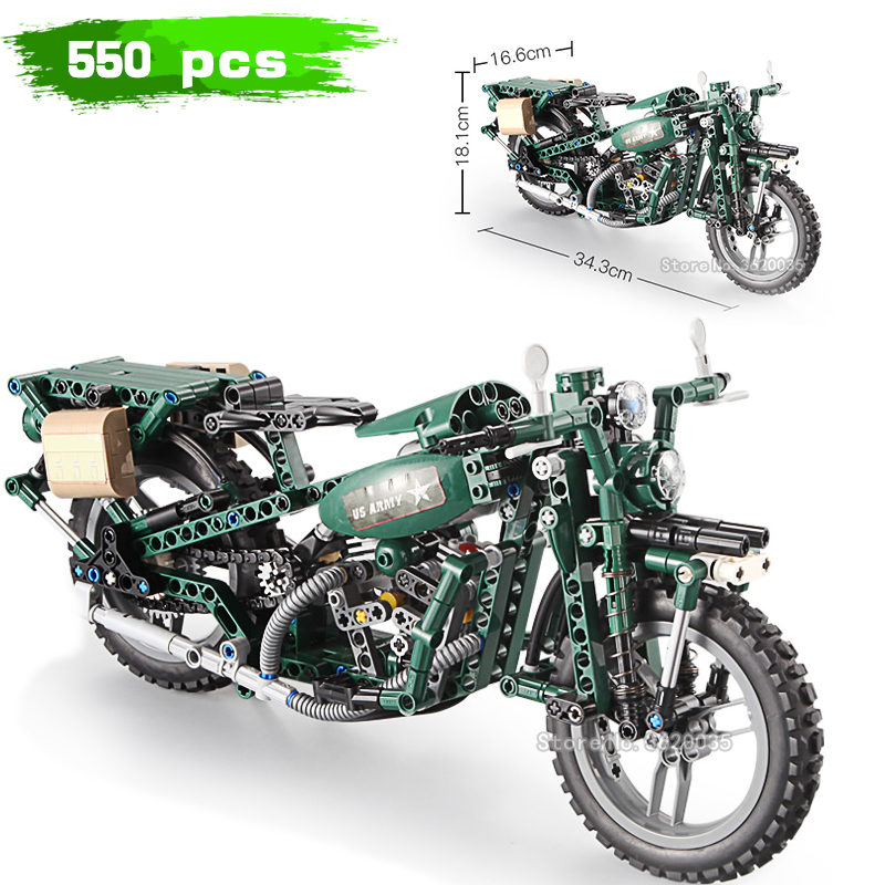 United States ww2 Technology car Second round motorcycle electric compatible legoinglys MilitaryBuilding Blocks model toys gift цена