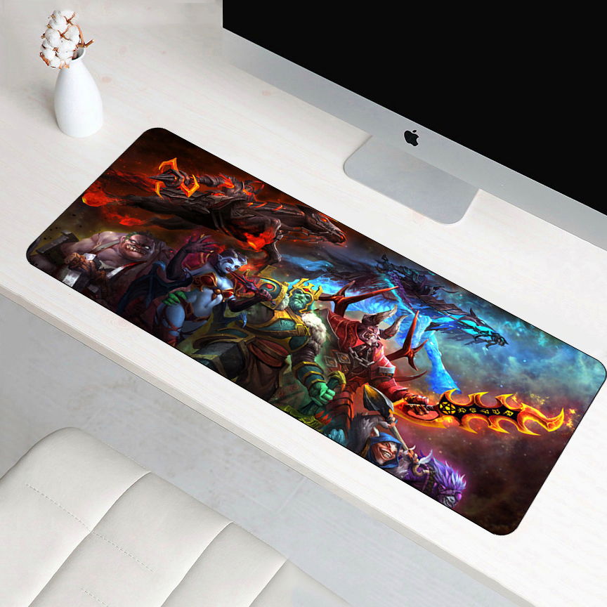 FFFAS 70x30cm Dota 2 Mouse Pad Best Speed Gamer Gaming Large XL Padmouse Rubber Laptop Notebook Lockedge Mouse Mat Keyboard Pad