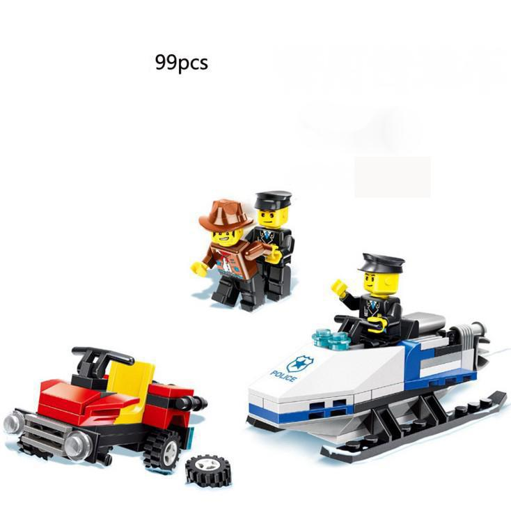 BOHS Police Chasing Robbers Gangsters Model Building Blocks Toy for Boys ...