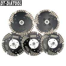 DT-DIATOOL 5pieces 125mm/5 Hot Pressed Diamond Turbo Blade For concrete brick tile with M14 thread Saw Blades Cutting Disc