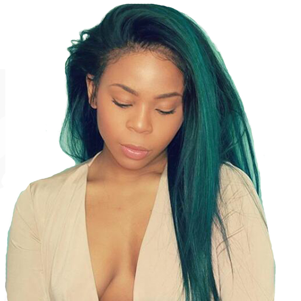 Sexay Ombre Brazilian Hair 3 Bundles Deal Pre Colored T1bturquoise