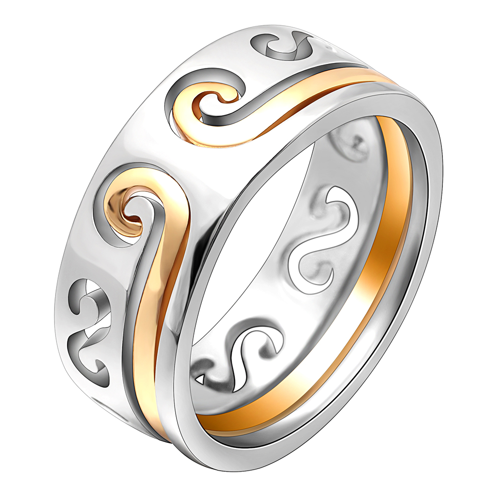 Hainon Creative Hollow Magic Spell Rings Set Couples Polished Sun WuKong Love Wedding Band Engagement Silver Color Jewelry Rings(China)