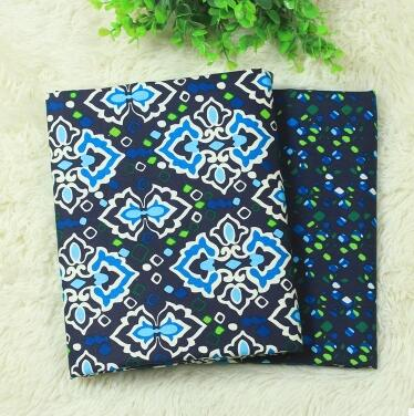 2 Piece/lot 150*50cm Blue Diamond Series Fabrics For Patchwork Upholstery  Fabric Camouflage