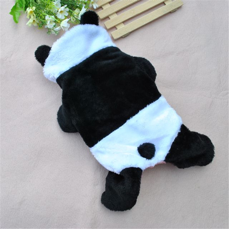 2018 New Hot fashion Panda Costume hoodie cat pet small dog puppy leisure costumes clothes Panda suit cotton dog costume suit