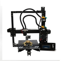 HE3D DIY 3d printer kit New upgrade EI3 Two colors, dual 2 in 1 out extruder reprap build size 200*200*200mm metal frame