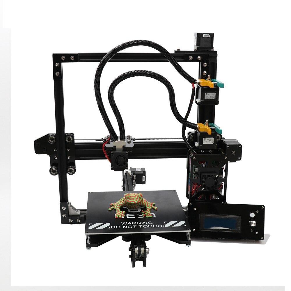 HE3D bricolage 3d kit imprimante Nouvelle mise à jour EI3 Deux couleurs, 2 dans 1 sur extrudeuse reprap
