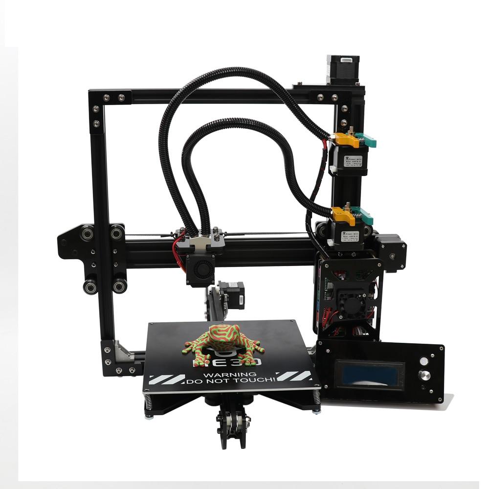 HE3D bricolage 3d imprimante kit nouvelle mise à niveau EI3 deux couleurs, double 2 en 1 sortie extrudeuse reprap taille de construction 200*200*200mm cadre en métal
