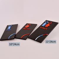 Door Sign Plate Indicator for Toilet Rest Room Washroom Quality Acrylic Creative Design Women Man 3D 10X24CM Customized
